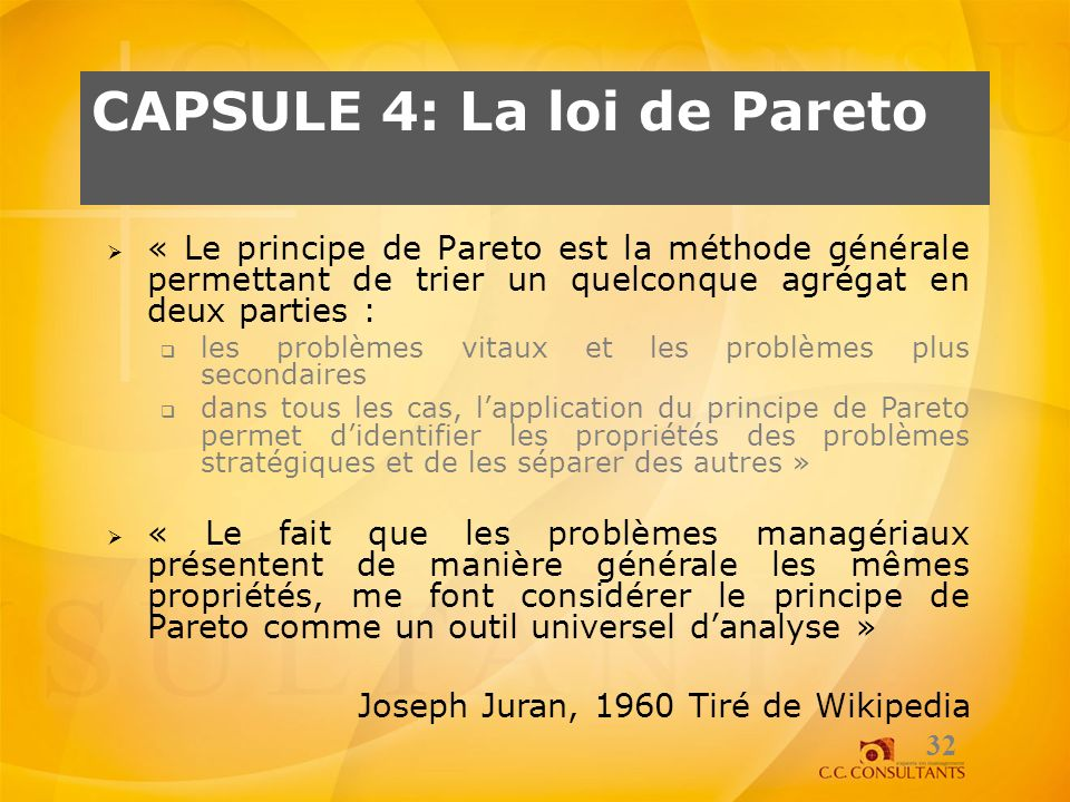 Capsule 4: La loi de Pareto