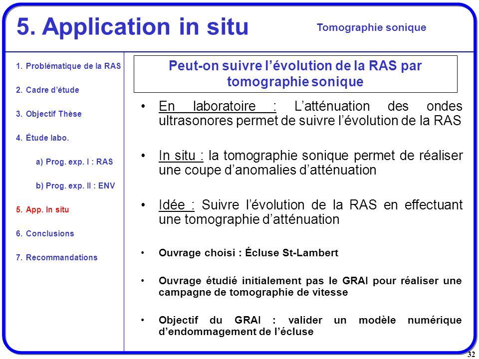 Peut-on suivre l'évolution de la RAS par tomographie sonique