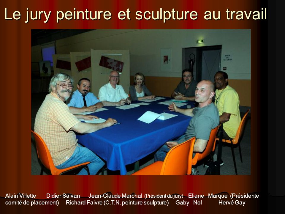 Le jury peinture et sculpture au travail