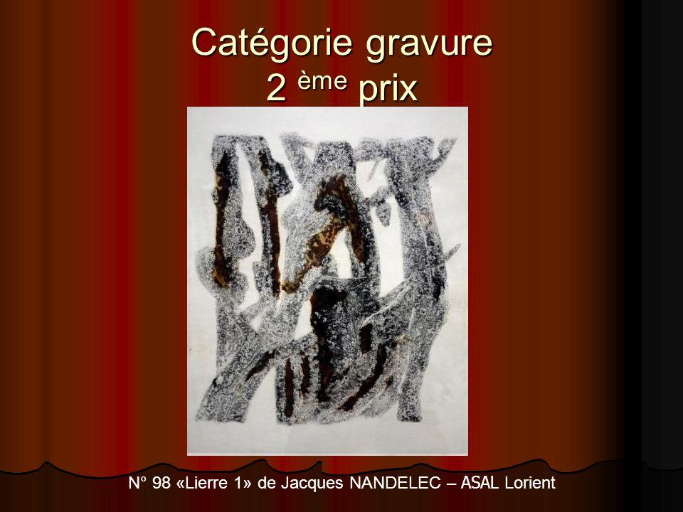Catégorie gravure 2 ème prix