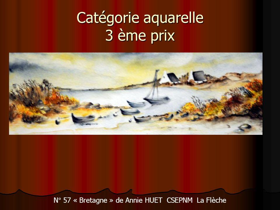 Catégorie aquarelle 3 ème prix