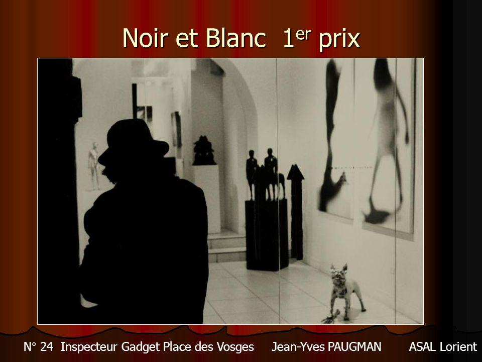 Noir et Blanc 1er prix N° 24 Inspecteur Gadget Place des Vosges Jean-Yves PAUGMAN ASAL Lorient
