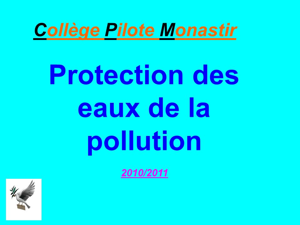 Protection des eaux de la pollution