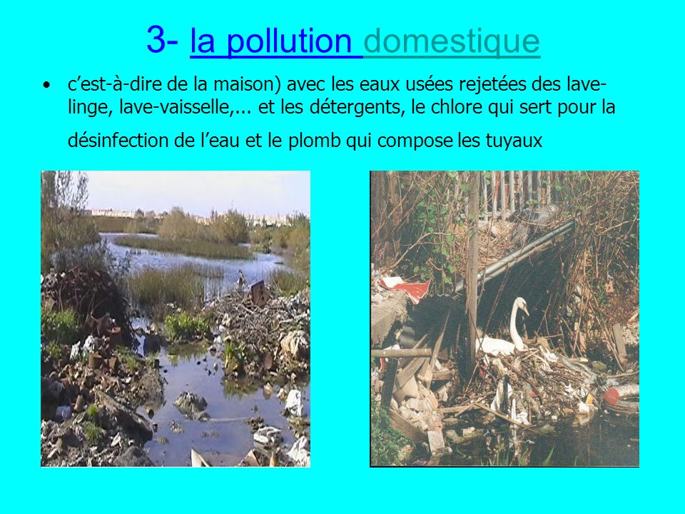 3- la pollution domestique