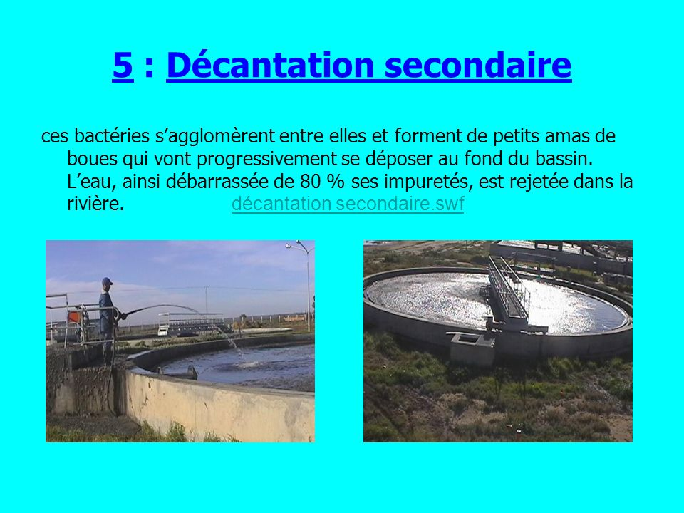 5 : Décantation secondaire