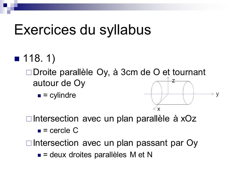 Exercices du syllabus 118. 1)