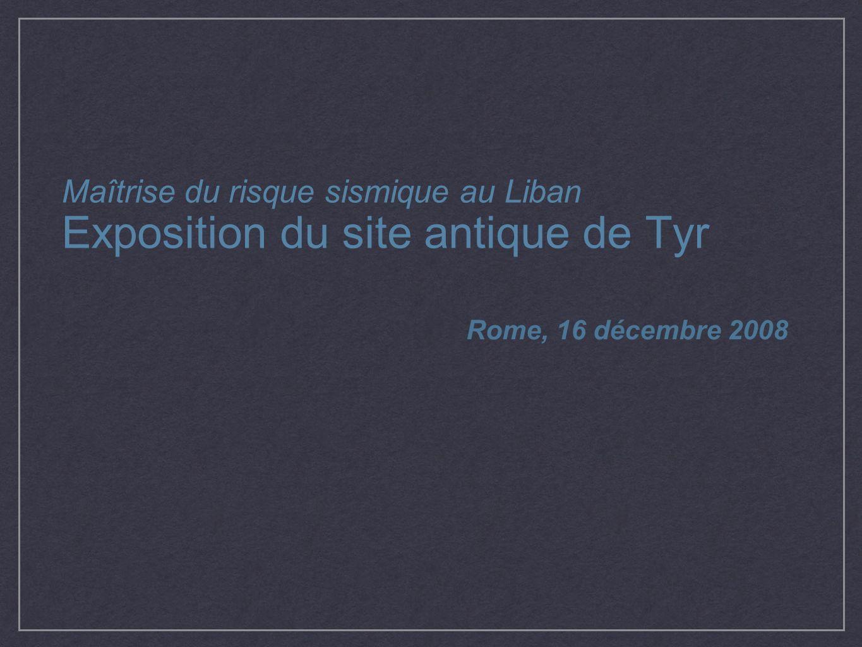 Exposition du site antique de Tyr