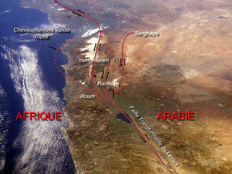 AFRIQUE ARABIE Chevauchement Saïda Tripoli Serghaya Yammouneh Rachaya