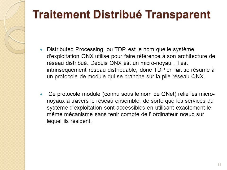 Traitement Distribué Transparent