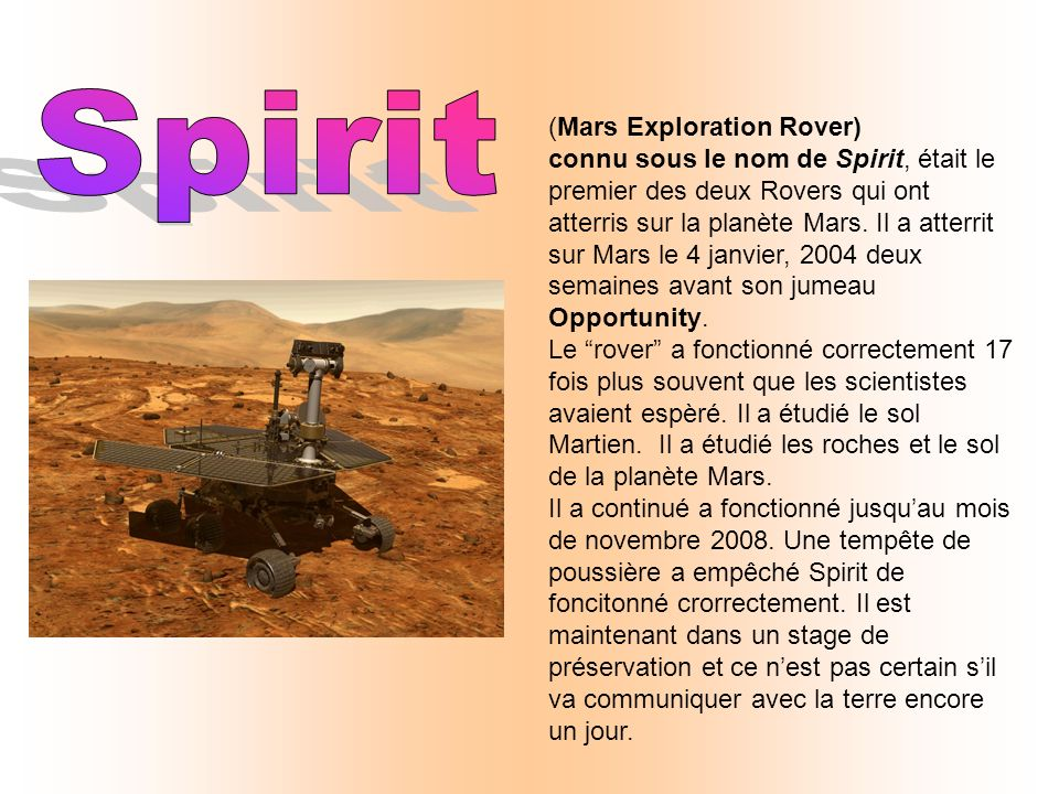Spirit (Mars Exploration Rover)