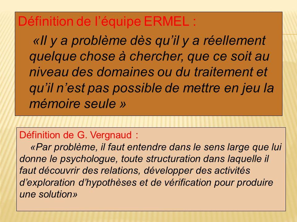 Définition de l'équipe ERMEL :