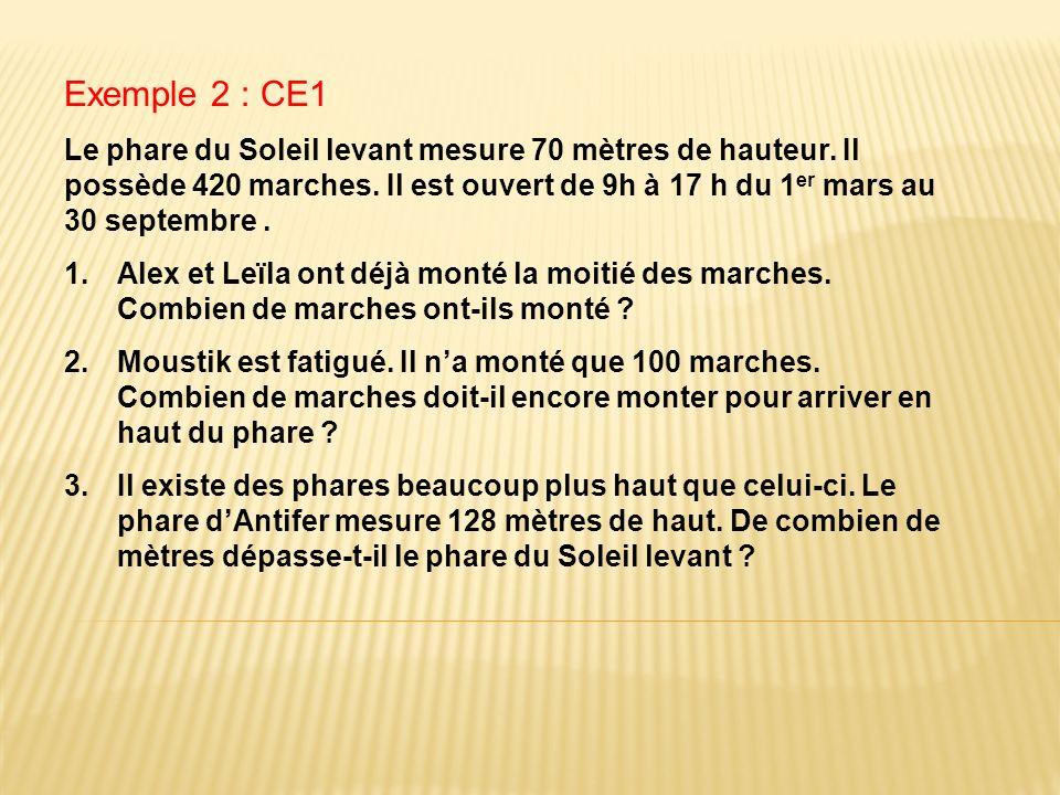 Exemple 2 : CE1