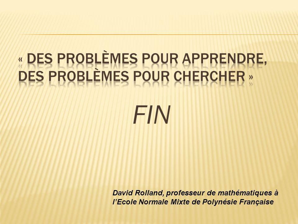 « Des problèmes pour apprendre, des problèmes pour chercher »