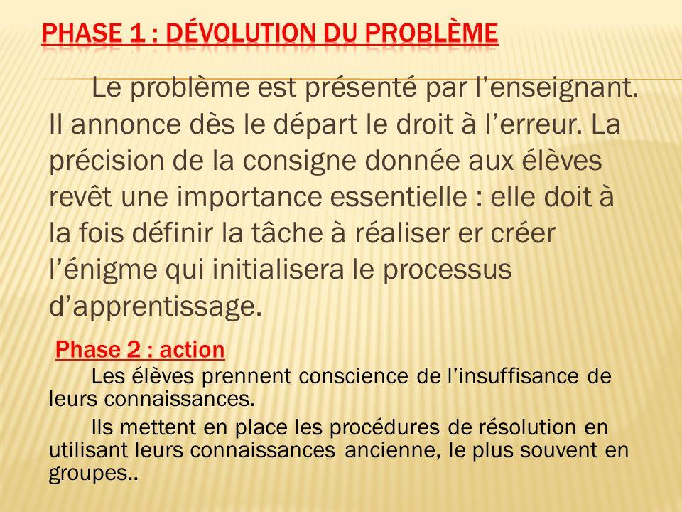Phase 1 : dévolution du problème