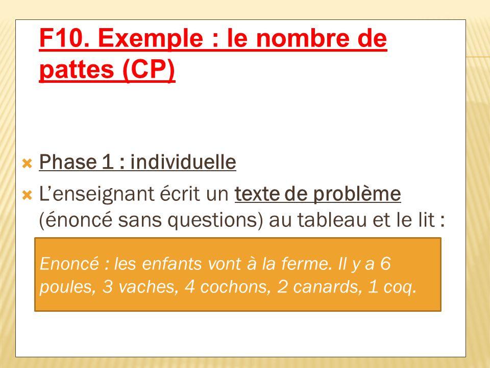 F10. Exemple : le nombre de pattes (CP)