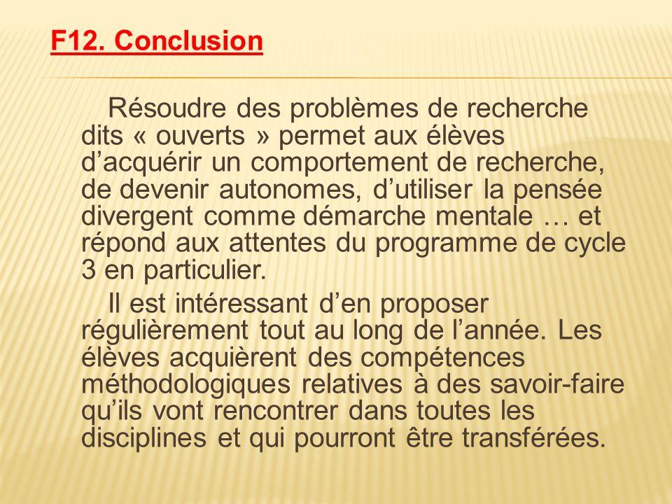 F12. Conclusion