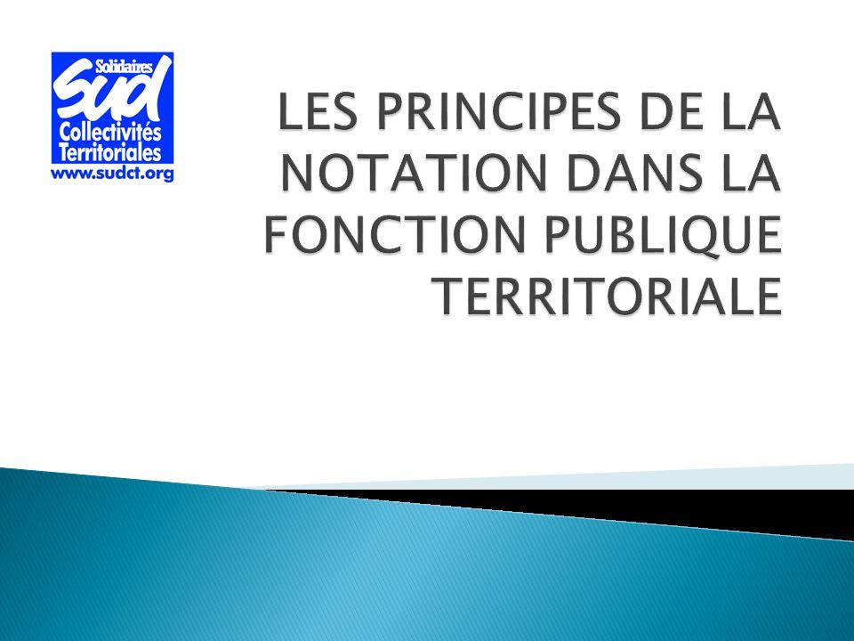 LES PRINCIPES DE LA NOTATION DANS LA FONCTION PUBLIQUE TERRITORIALE