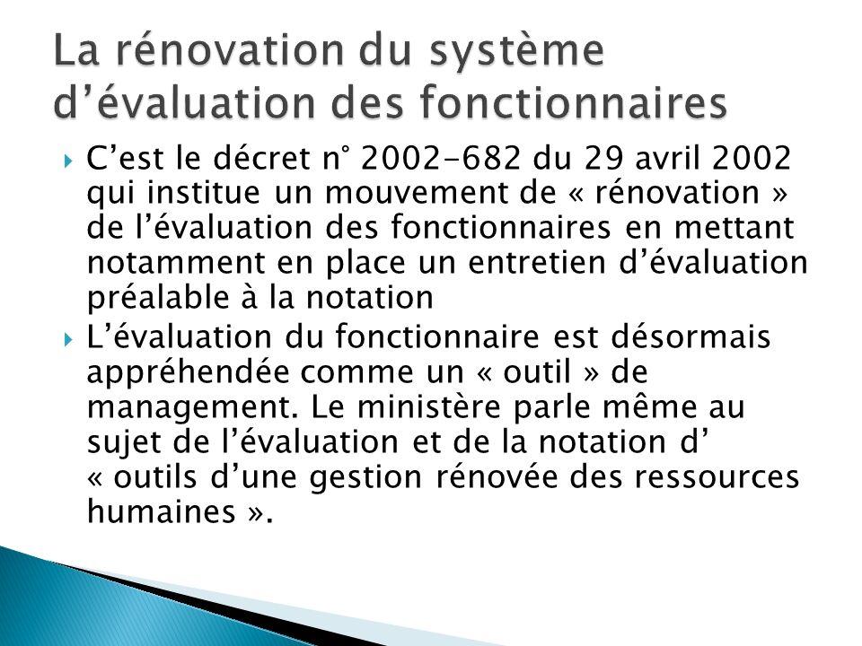 La rénovation du système d'évaluation des fonctionnaires