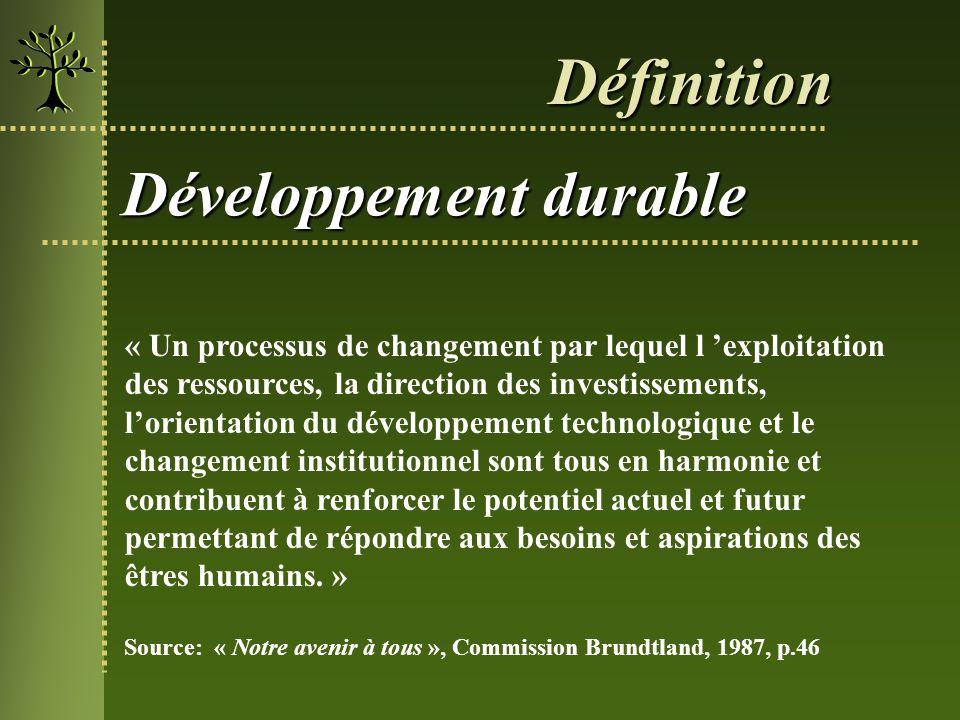 Définition Développement durable