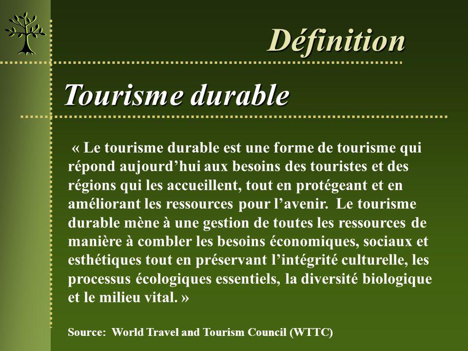 Définition Tourisme durable