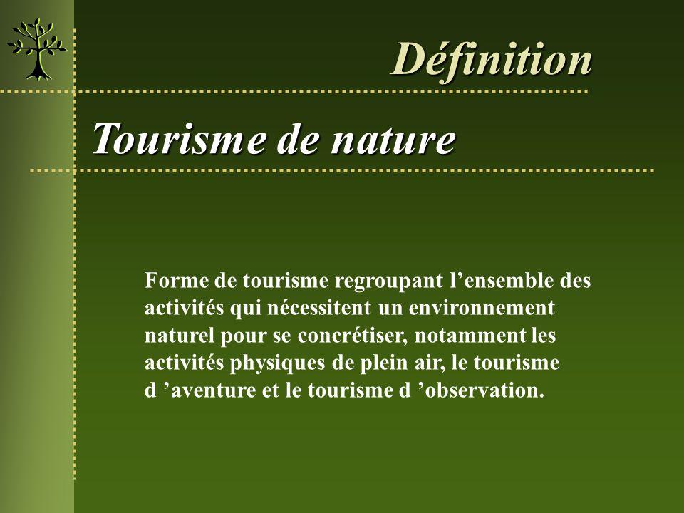 Définition Tourisme de nature
