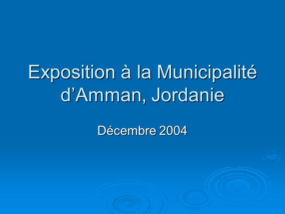 Exposition à la Municipalité d'Amman, Jordanie