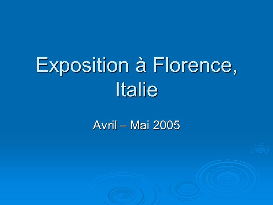 Exposition à Florence, Italie