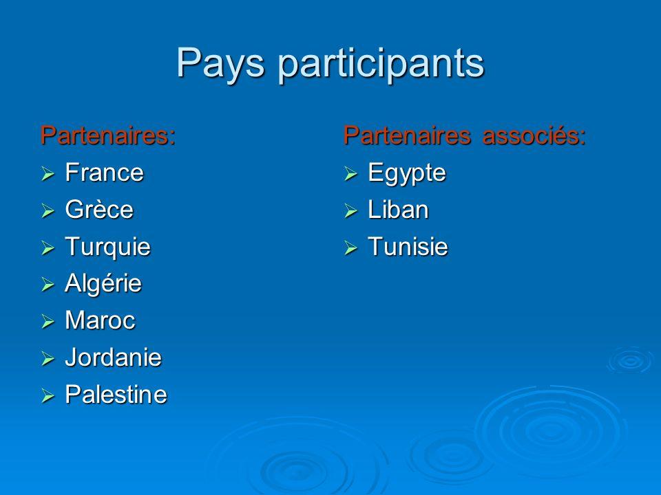 Pays participants Partenaires: France Grèce Turquie Algérie Maroc