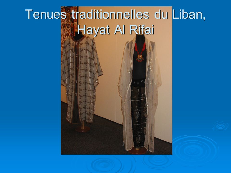 Tenues traditionnelles du Liban, Hayat Al Rifai