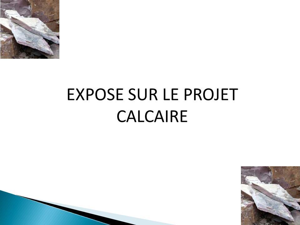 EXPOSE SUR LE PROJET CALCAIRE