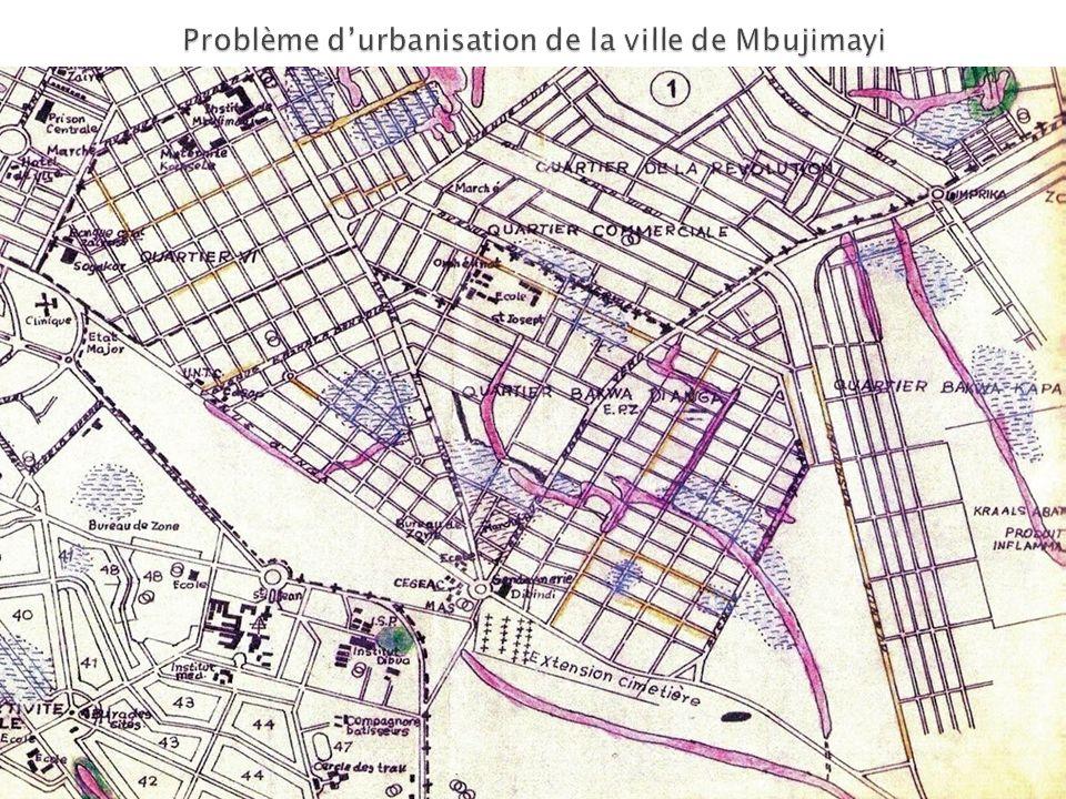 Problème d'urbanisation de la ville de Mbujimayi