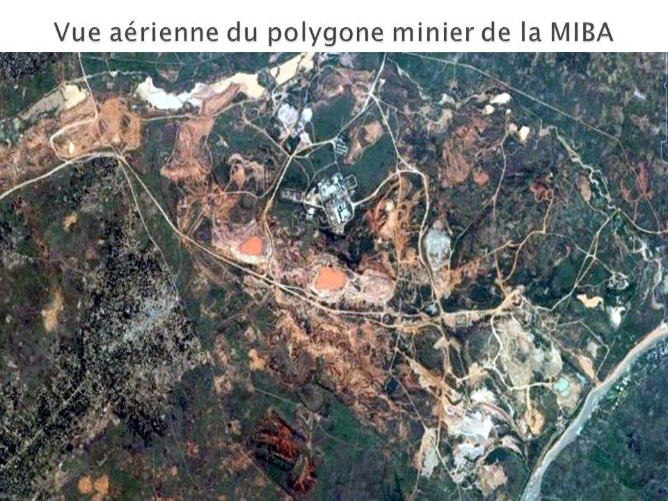 Vue aérienne du polygone minier de la MIBA