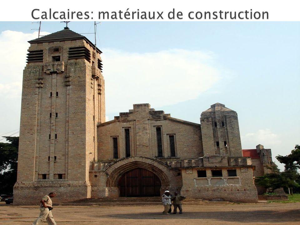 Calcaires: matériaux de construction