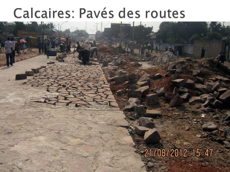 Calcaires: Pavés des routes