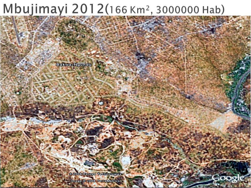 Mbujimayi 2012(166 Km2, 3000000 Hab)