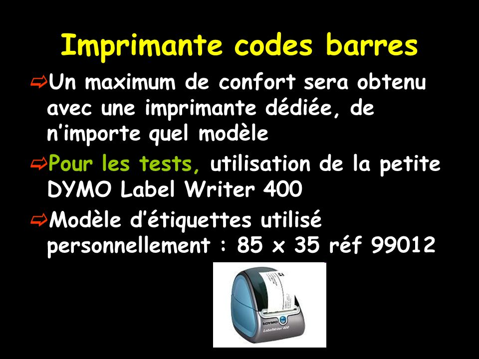 Imprimante codes barres