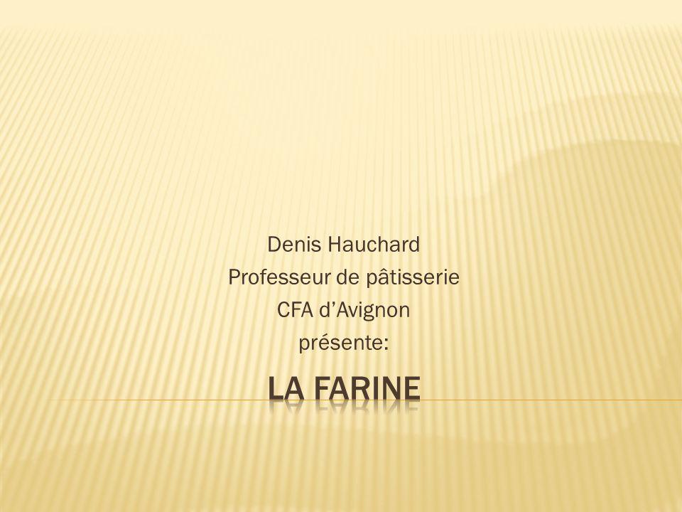 Denis Hauchard Professeur de pâtisserie CFA d'Avignon présente: