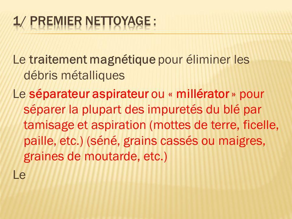 1/ Premier nettoyage : Le traitement magnétique pour éliminer les débris métalliques.