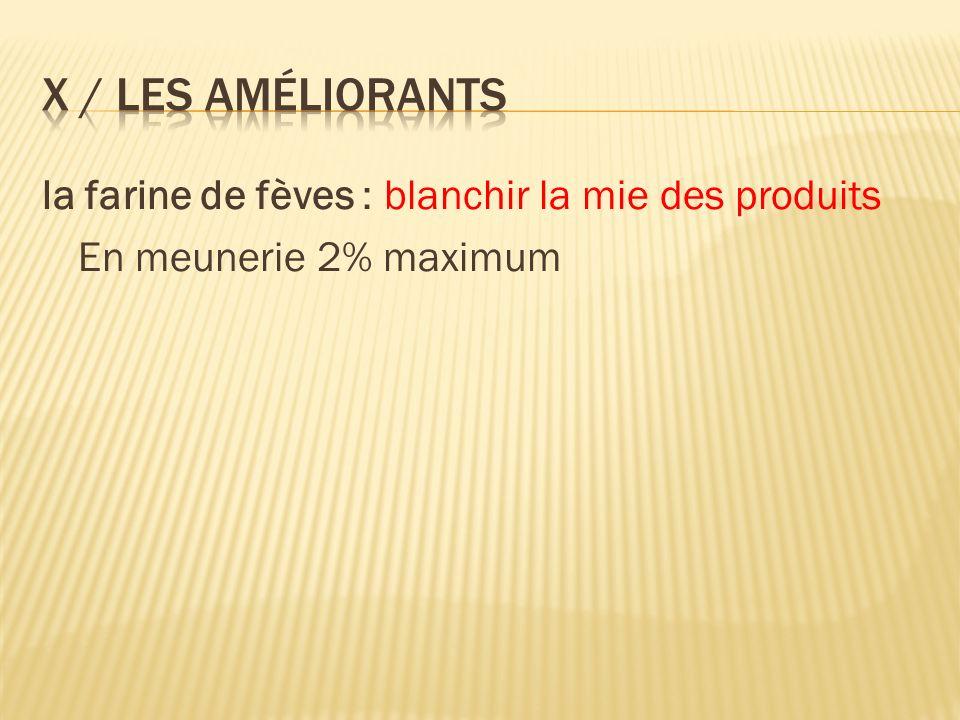 X / Les améliorants la farine de fèves : blanchir la mie des produits