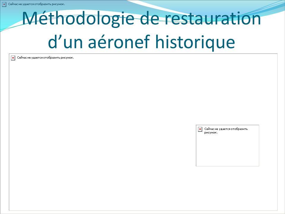 Méthodologie de restauration d'un aéronef historique