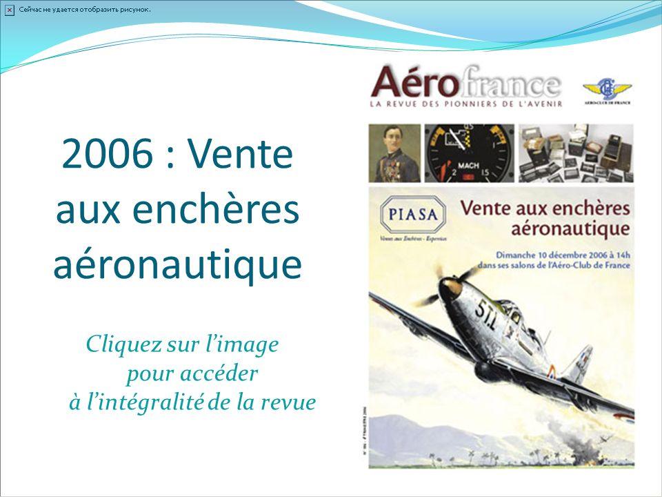 2006 : Vente aux enchères aéronautique