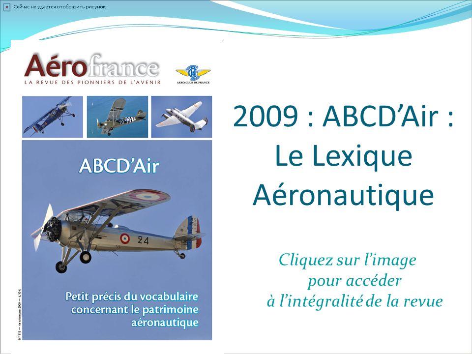 2009 : ABCD'Air : Le Lexique Aéronautique