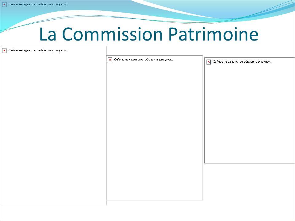 La Commission Patrimoine