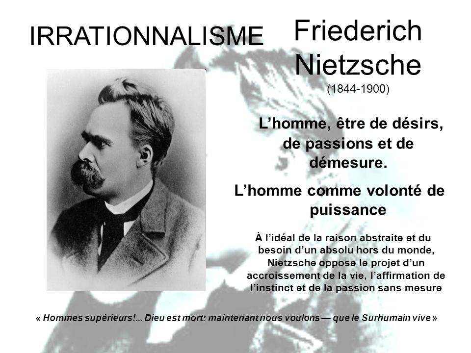 Friederich Nietzsche (1844-1900)