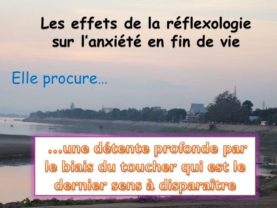 Les effets de la réflexologie sur l'anxiété en fin de vie
