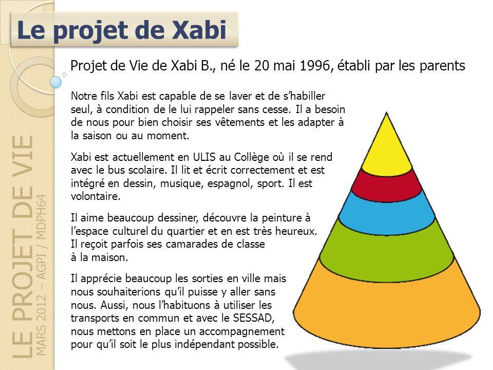 LE PROJET DE VIE Le projet de Xabi