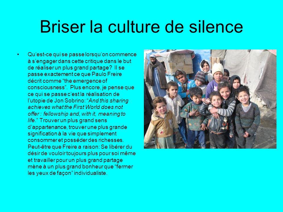 Briser la culture de silence