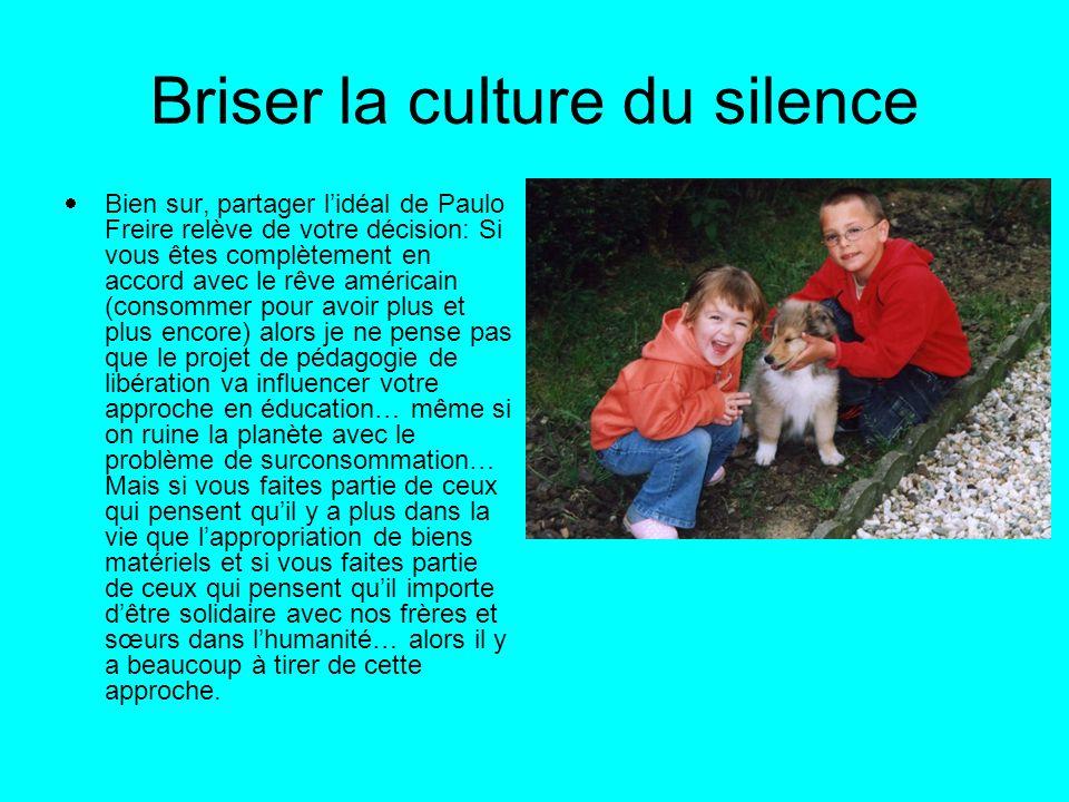 Briser la culture du silence