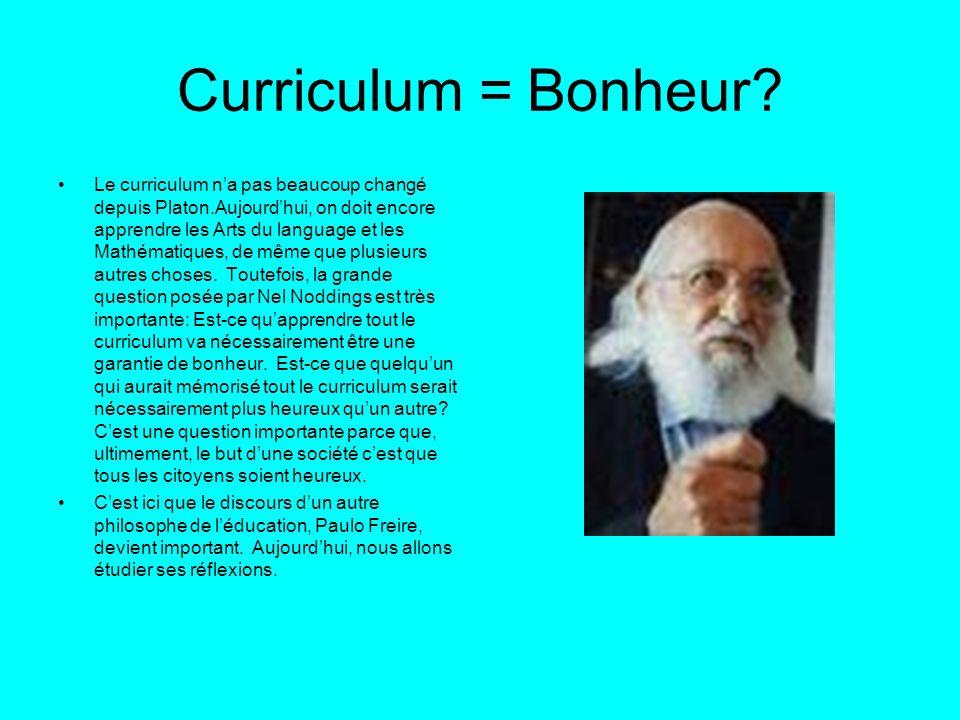 Curriculum = Bonheur
