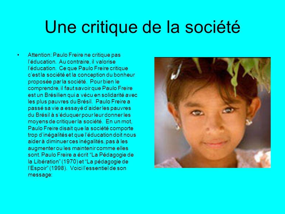 Une critique de la société
